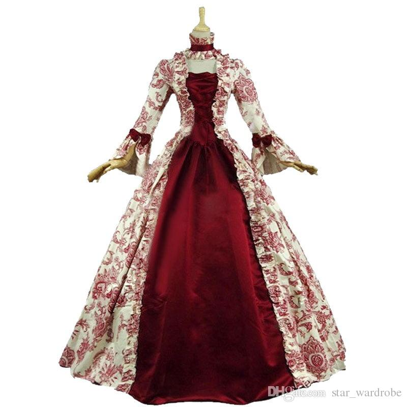Discount Colonial Victorian Gothic Steampunk Dress Period Gowns Reenactment Theatre Clothing Renaissance Medieval Costumes From China