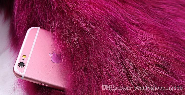 Automne hiver Nouvelle femme de luxe en coton rembourré épaississant Fox Raccoon Fourrure manches sans manches courtes gilet Casacos Plus Taille S-3XL