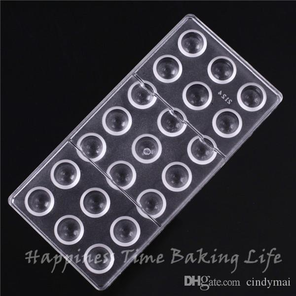 2.5x2cm*21cups Shape Chocolate Clear Polycarbonate Plastic Mold,DIY Handmade Chocolate PC Mold,Chocolate Tools