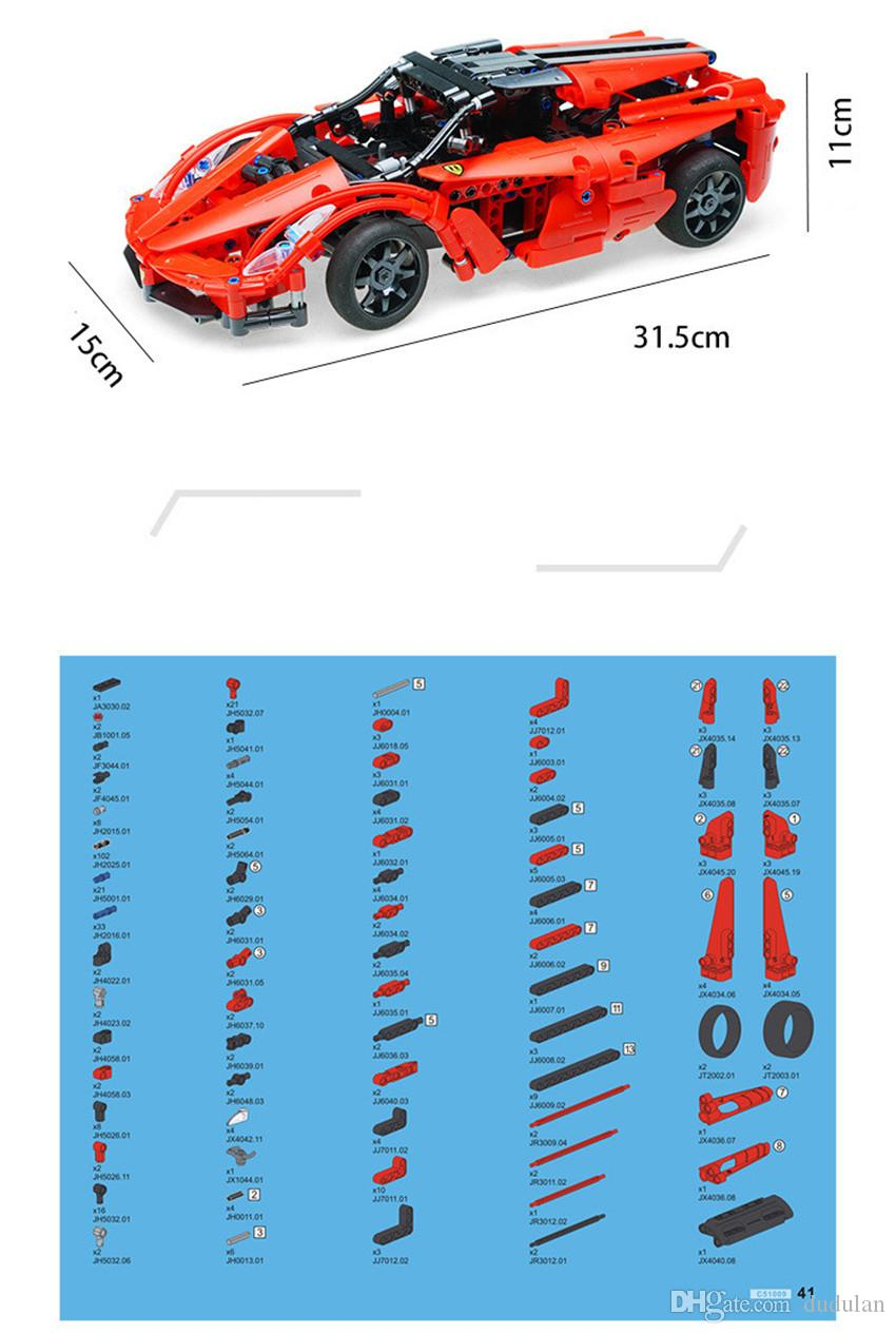 Bulubulu RC F1 Racing Car Building Blocks Charging Remote Control Toys for Boys Kids Educational Assembly Toy Gift Bricks 21004