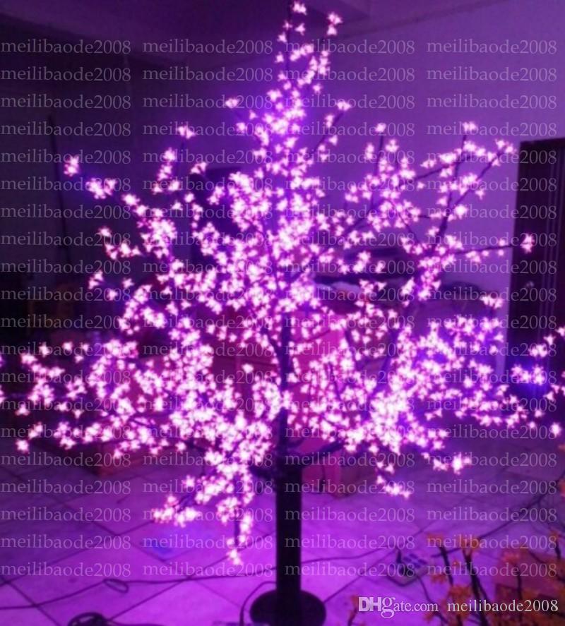 2017 جديد عيد الميلاد السنة الجديدة led زهر الكرز شجرة 1024 قطع الصمام المصابيح الخضراء 1.8 متر / 6 ft ارتفاع 110/220vac المعطف في استخدام myy
