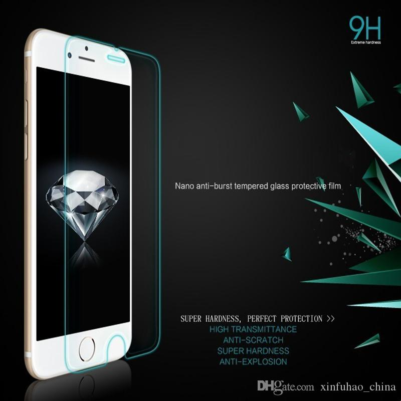 Для iPhone X Xr XS Max 8 7 6 S Plus закаленное стекло-Экран протектор 9 H 2.5 D Anti-shatter пленка для Samsung J3 J7 Prime 2017 2018 LG Stylo 4 3