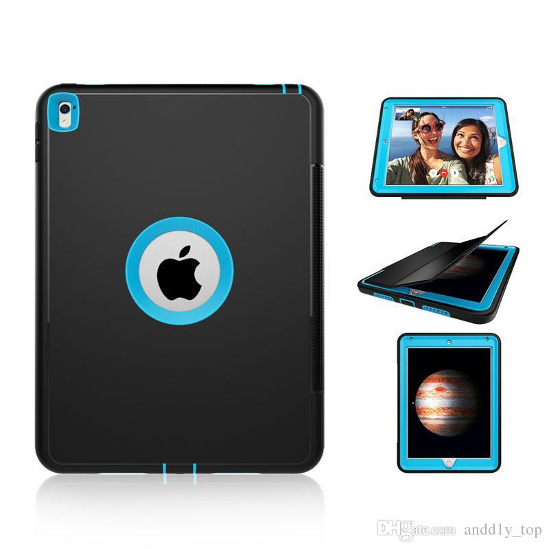 360 Degree Full Body Protective Shockproof Heavy Duty Hybrid Hard Case Smart Cover For iPad 2 3 4 6 7 Pro 9.7 Mini Mini4