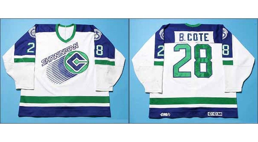 8e6371bde ... free shipping customize qmjhl shawinigan cataract mens womens kids 28  benoit cote white hockey jerseys goalit