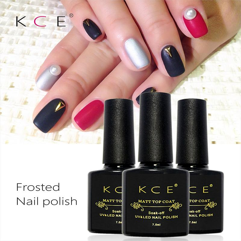 Wholesale- KCE Brand UV Gel Nail Polish Matte Finish Nail Polish ...