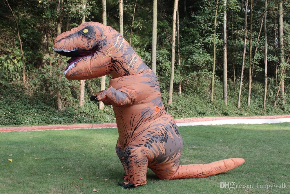 Acheter dinosaure gonflable t rex costume blowup dinosaur halloween costumes chine dinosaur - Dinosaure de jurassic park ...