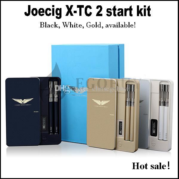 Autentica joecig x-tc-2 e cig brevettato con display LED a potenza protable 900mah pcc Case 90mah Battery xtc2 Serbatoio atomizzatore x-tc 2 starter kit