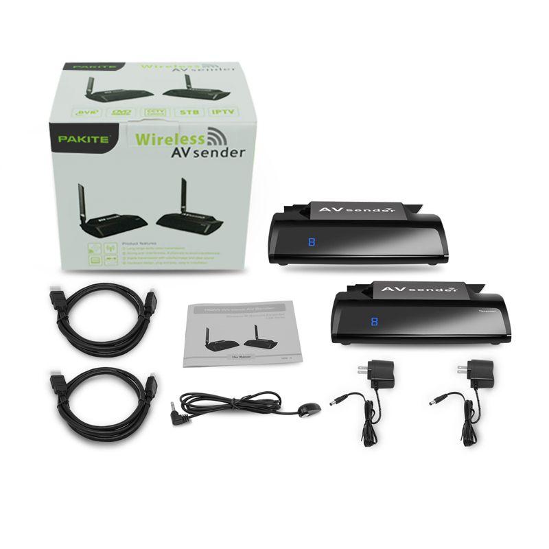PAT-580 5.8 GHz Kablosuz Video Verici Alıcı HDMI AV Ses Video Gönderen Alıcı 300 M Adaptörü Ile PC TV Box için IR Uzaktan Genişletici DV