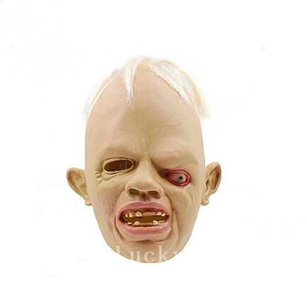 Halloween Party Cosplay Ugly swollen eye weird face zombie scary mask latex sloth goonies mask Scary Horror Bloody Deivl Vampire masks