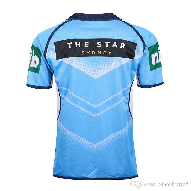 NSW Kökenli Forması 2016 Klasik Yeni Güney Galler Blues Menşe Devlet Rugby Forması Yeni Güney Galler Blues erkekler euro Ekstra büyük boy S-4XL-5XL