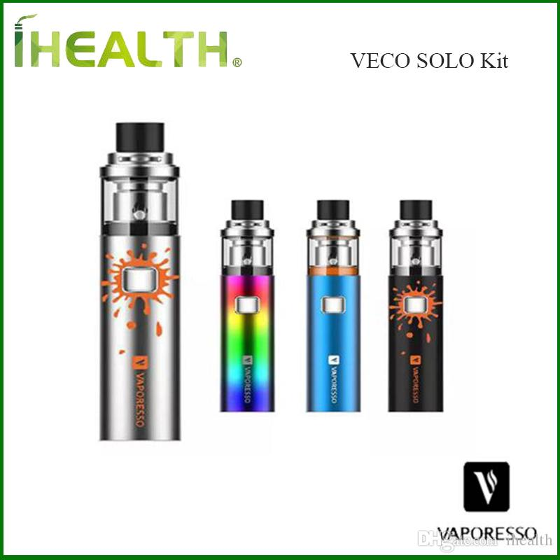 Autentica Vaporesso VECO SOLO Kit 1500mAh costruito in batteria con serbatoio 2ml Veco Solo il tutto in un unico kit stile vaping