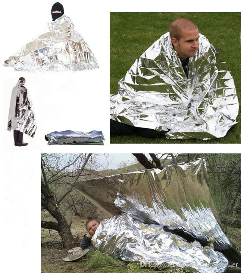 2017 Waterproof Emergency Survival Foil Thermal First Aid Rescue Life-saving Blanket Military Blanket kits wholesale price