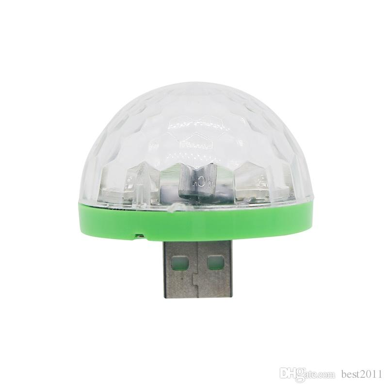 Microfono USB multicolore Luce Mini Colorato Neon Light Decorazione Cambia colore insieme alla vendita di musica ritmica