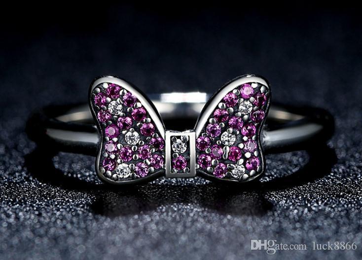 100% S925 Sterling Silber diamantbesetzter Ringohrschmuck zweiteilig