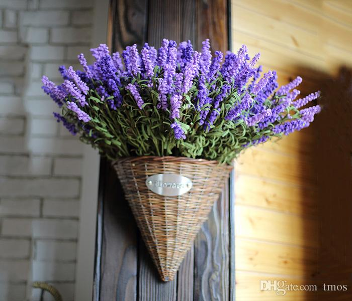 2019 Zakka Style 9 Heads Fresh Purple Fake Plants Artificial Flower