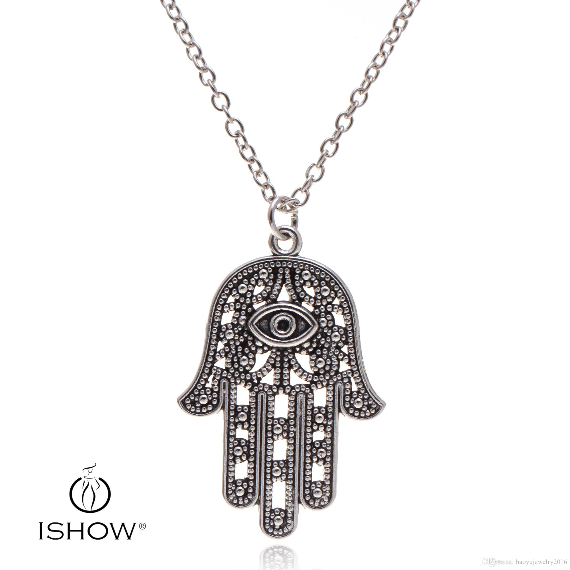 Wholesale Sliver Line Open Devil Eye Necklaces Hamsa Hand Evil Eye  Fortunate Turkish Eye Pendant Necklace HYNX2865 Butterfly Necklace Chain  Necklace From ... e233e61ea