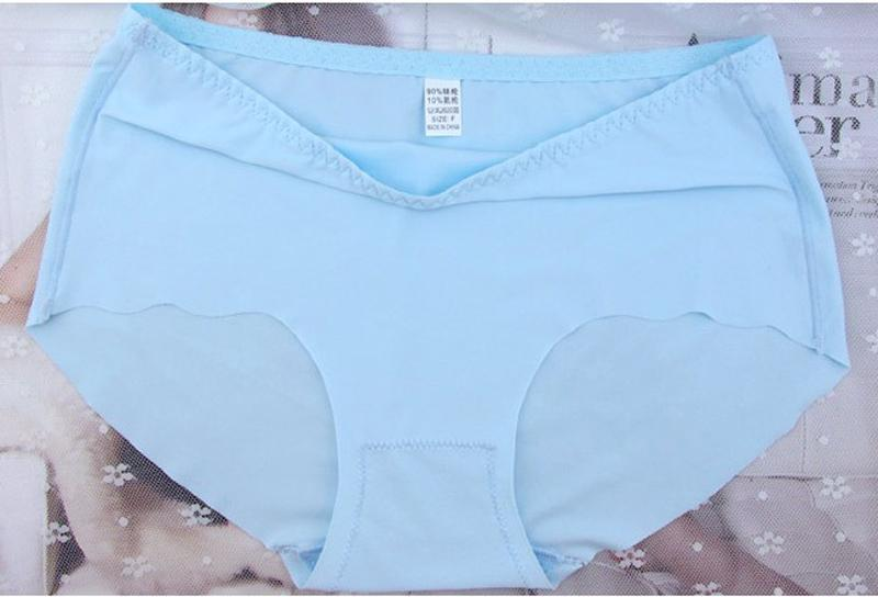 Plus size Seamless Brief High Waist Panties Boyshort Underwear Women Sexy Girl Ice Silk Thong Casual Hot Sale