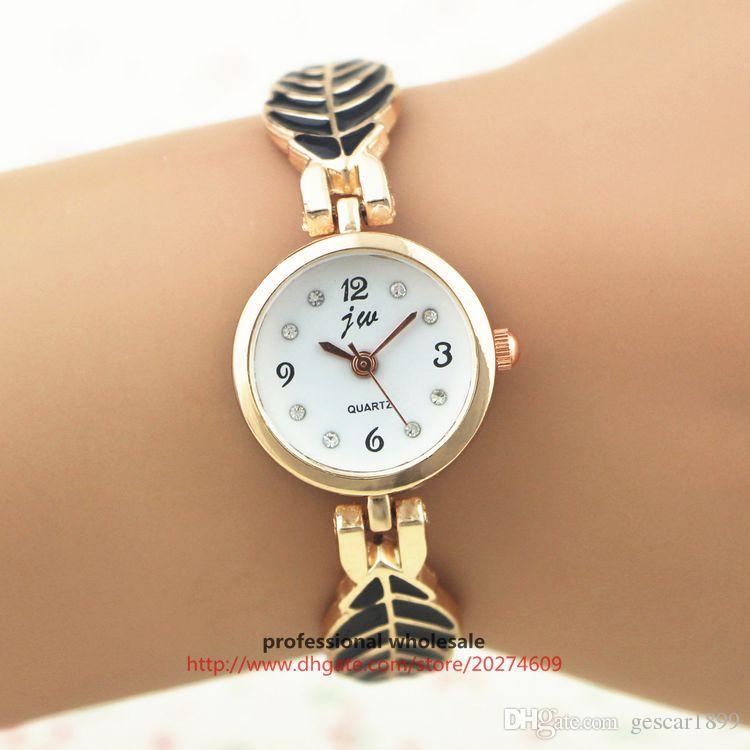 Latest Style Women Watch Tree Leaf Chain Strap Bracelet Watch Dress Women Bangle Wristwatch Wholesale