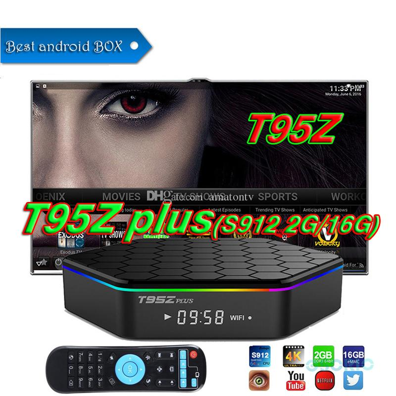 2018 Coolest T95Z Plus TV Box Android7 1 S912 Octa-core TV Box 2G+16G  2 4G+5G Wifi Octa Core Bluetooth 4 1 Dual Wifi Gigabit media player