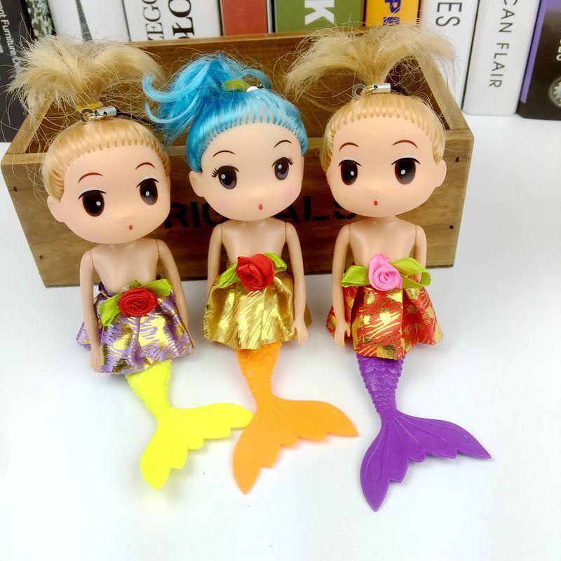 Hot sellin Cute Mermaind Princess Doll Keychain Pendant Fashion Popular 18CM Gum Dolls Girl Toys good Christmas gifts for girl Plush Toys