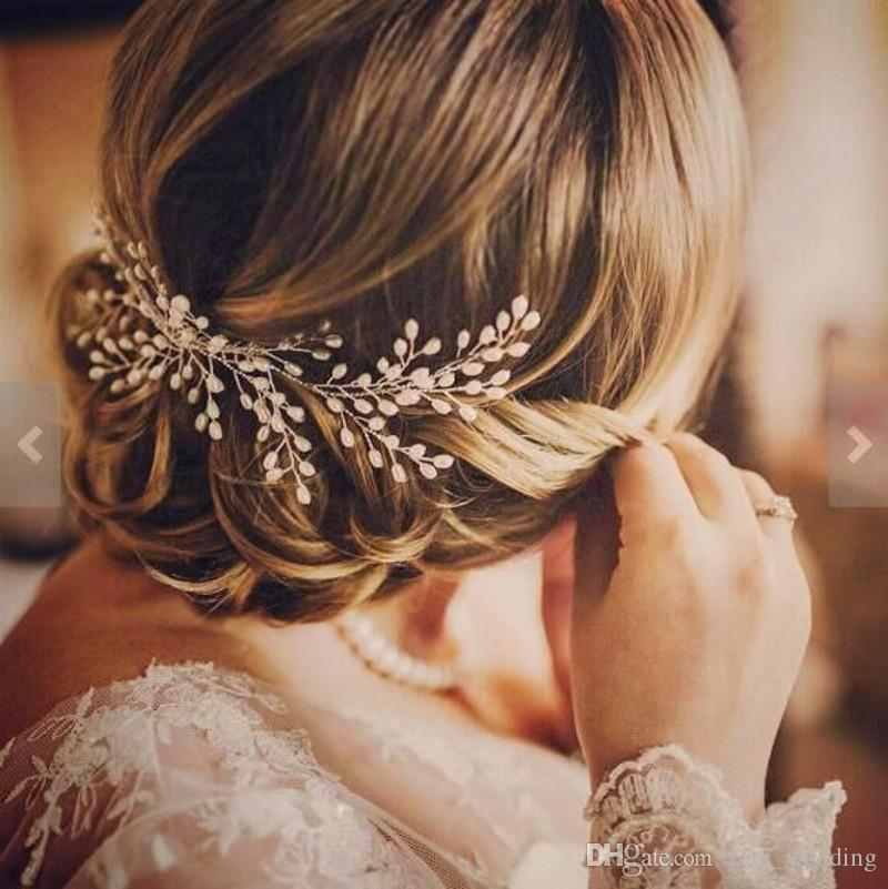 Let yourself shine wearing romantic ivory pearl bridal hair comb wedding hair accessories bridal hair vine tiaras bohemian pearl head piece sold by yate_wedding