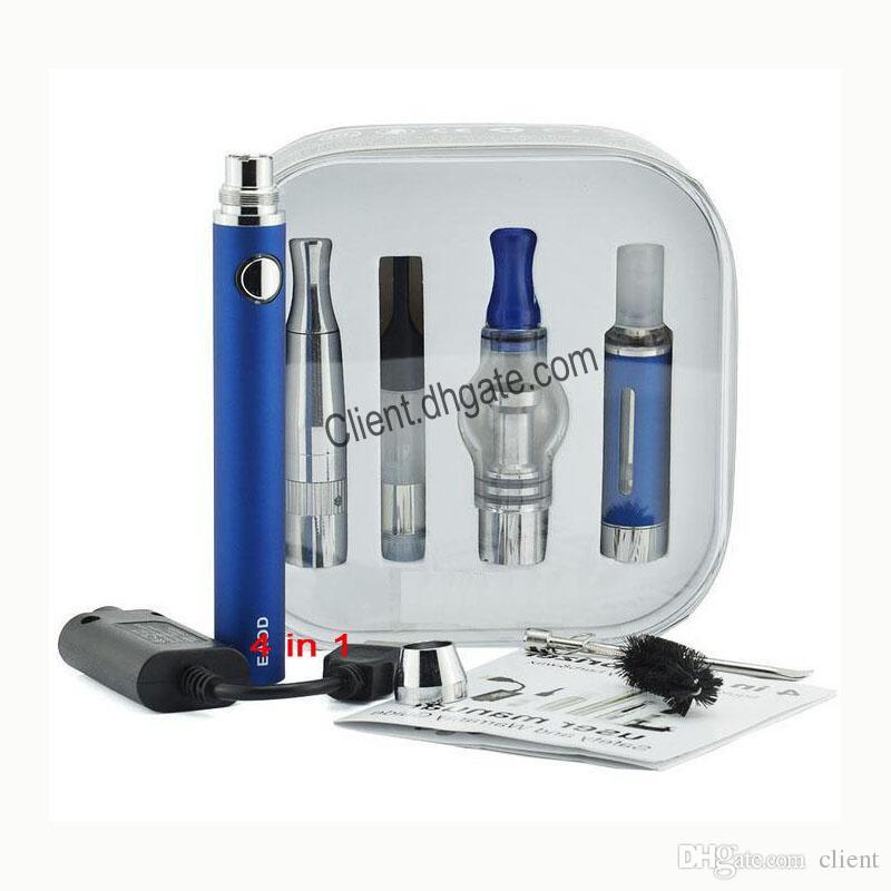 Kit de inicio de batería Evod 4 en 1 4in1 Vaporizador múltiple Vape Pen EVOD batería 1100/900 / 650mah MT3 Dry Herb WAX FreeDHL