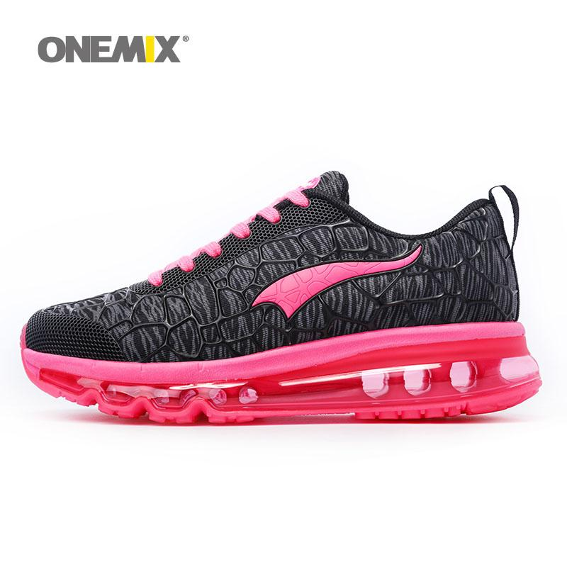 ONEMIX Woman Running Shoes For Women Air Cushion Shox 2018 Athletic  Trainers Womens Jogging Sports Shoe Black Red Outdoor Walking Sneakers UK  2019 From ... 92df7aba2