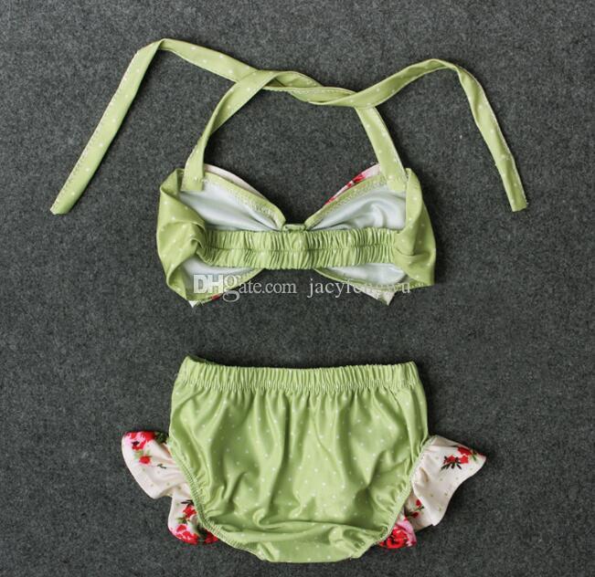 Девушки бикини купальник довольно Baby галстук-бабочку мода принцесса из двух частей дети Бикини пляж одежда 2 шт. костюм ребенка купальники дети купание YY009