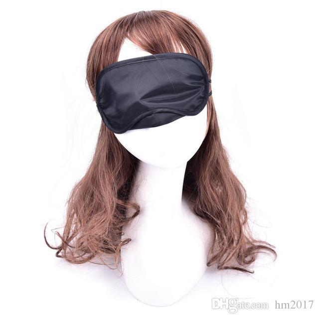 Descanso de viaje Máscara para dormir Ojo Satinado Venda de ojos Sombra de ojos suave Cubierta de siesta Venda de ojos Suave máscara de ojos Máscara de sombra