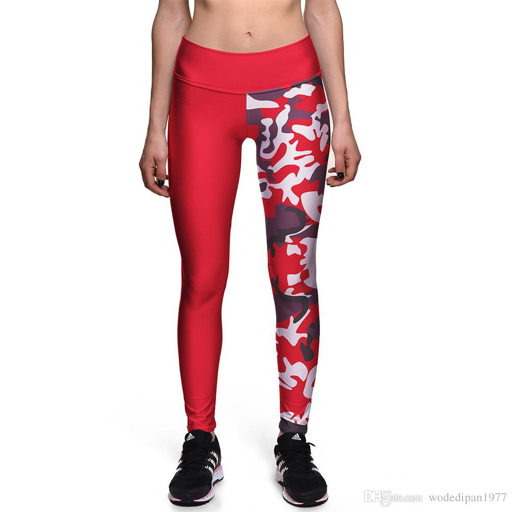 2019 New Womens Red Digital Print Casual Slim Leggings For Female Fashion  High Waist Fitness Skinny Pencil Pants Trousers Plus Size From  Wodedipan1977 81603b6ed0