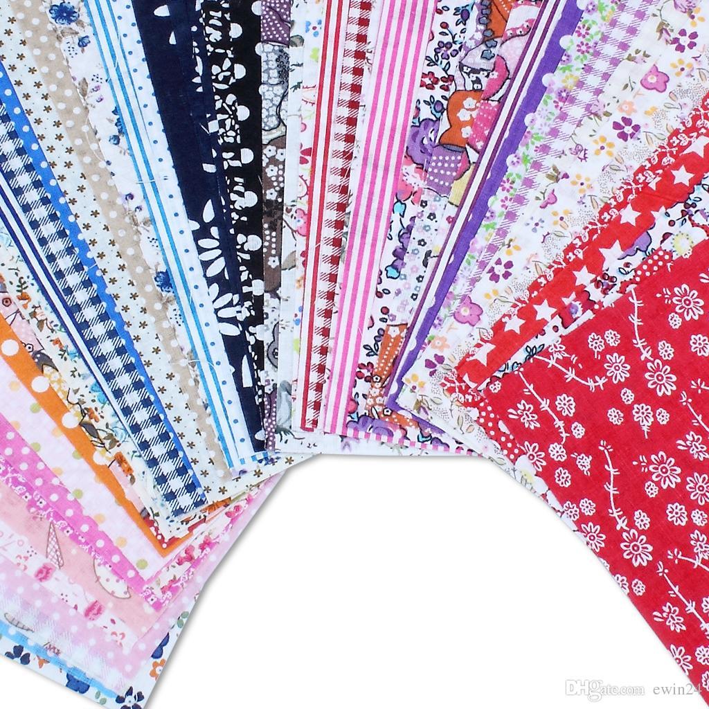24 * 20 cm Tecido De Algodão Projeto Flor Serier Patchwork Tecido Fat Craft Quater Bundle De Costura Para Tecido 50 pçs / lote