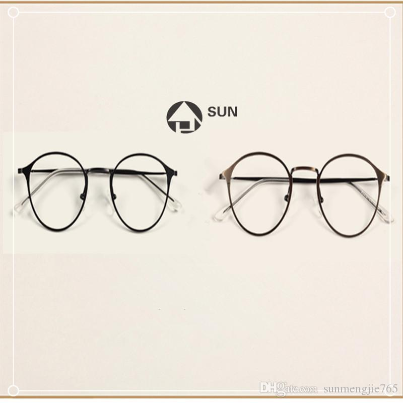 Online Cheap Rose Gold Glass Frame Female Tide Restoring Ancient ...