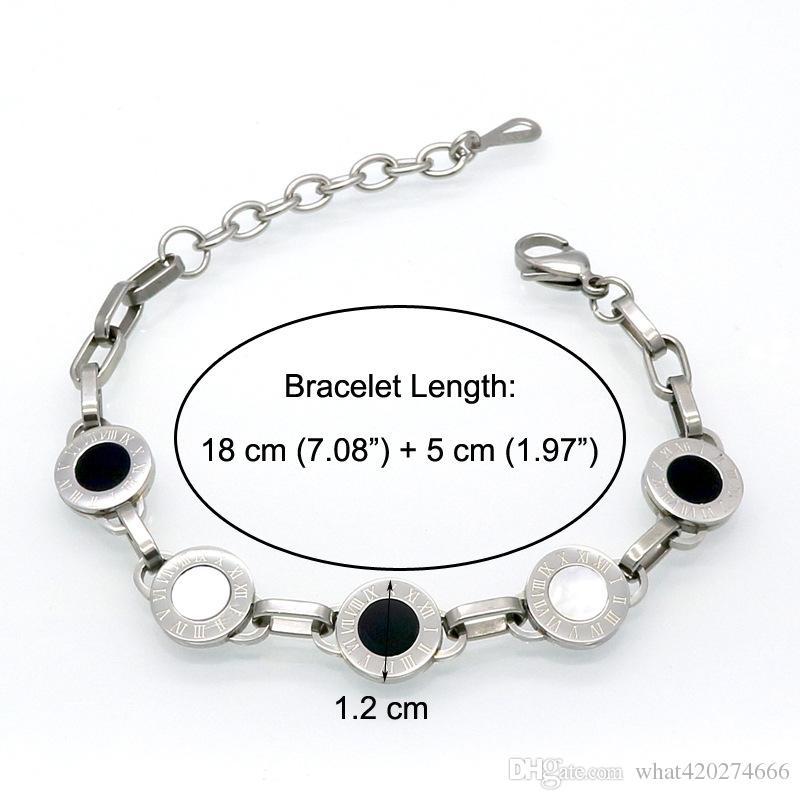 Splendido oro / argento / rosa colore bianco shell nero resina braccialetto di fascino perline festa nuziale bracciali le donne da polso Pulseras
