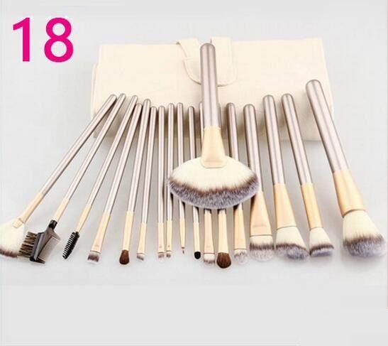 Spot de fábrica directo Champagne Gold 12 18 pinceles de maquillaje herramientas de maquillaje pinceles de maquillaje