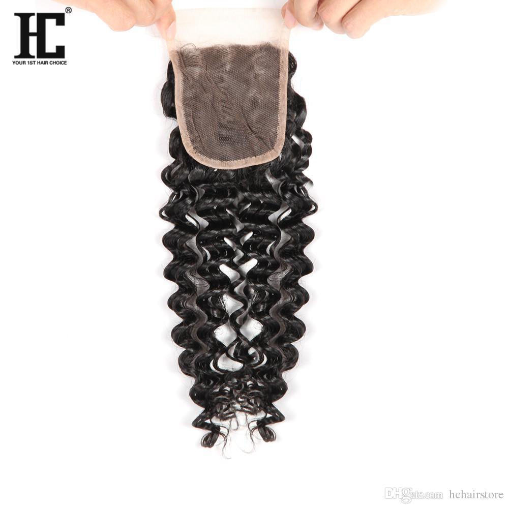 7a البرازيلي موجة عميقة مجعد الشعر 3 حزم مع إغلاق الحرة الأوسط 3 جزء مزدوج لحمة الشعر البشري dyeable الإنسان نسج الشعر