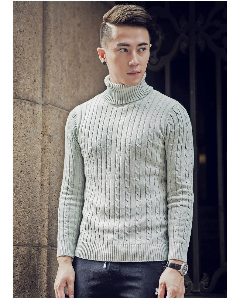 960b158377a 2019 Sweater Men Thick Sweaters Undershirts Pull Homme Knitwear Cashmere  Turtleneck Pure Color Christmas Pullovers Men S Outerwear SY122 From  Riccio