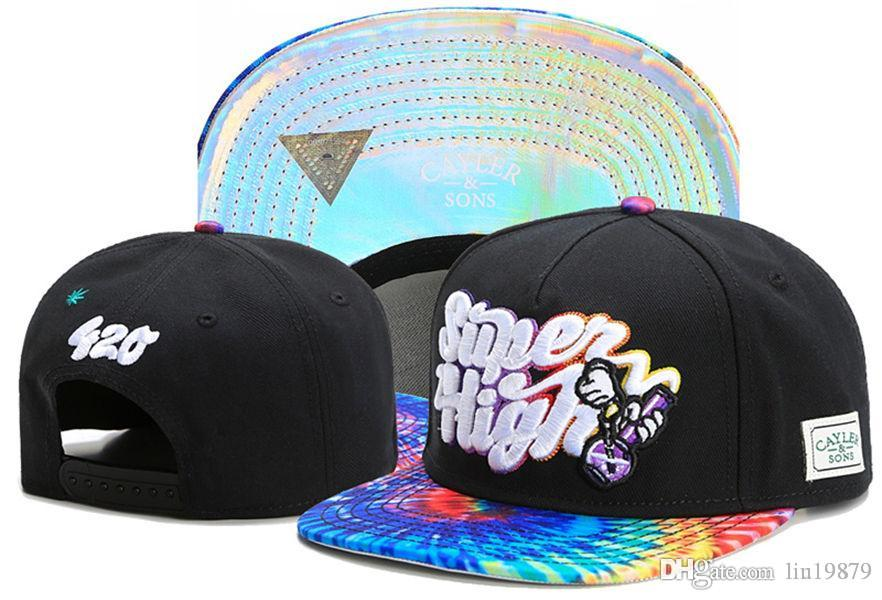 49e24285d7a68 Fashion Cayler & Sons Super High 420 Snapback Hats Hip Hop Hat For ...