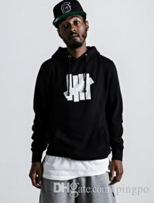Wholesale-Undefeated Hoodies New Hip Hop  Undefeated Men Women Cotton Sports Sweatshirts Four Bars Undefeated Jacket
