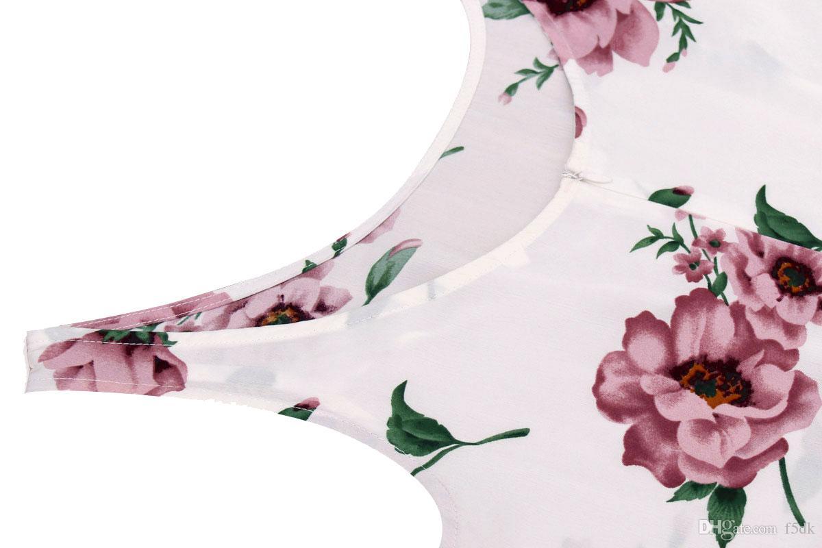 2017 Летняя Мода Красивые Цветочные Печатный O Шеи Платье Без Рукавов Женщины Спинки Короткие Повседневные Платья
