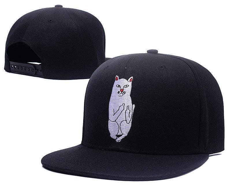 Ripndip Snapbacks Hats Adjustable Cat Ripndip Baseball Hat Embroidery Flat  Brim Snapback Hats for Men And Women Ripndip Snapbacks Flat Brim Snapback  Hats ... cbf719dae6ff