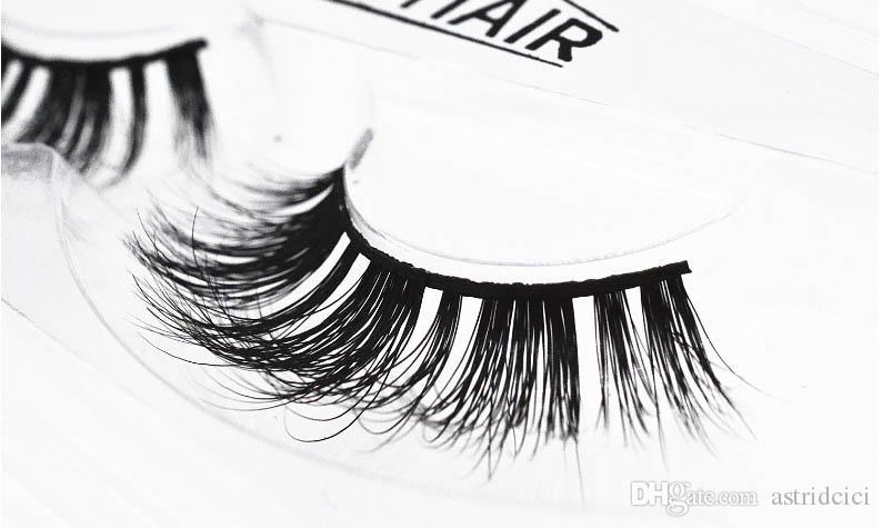Natural Straight Long False Eyelashes Mink Hair Lash extension Casual Business career eye makeup Eyelash Curl Lashes Nude Makeup Thick Eyela