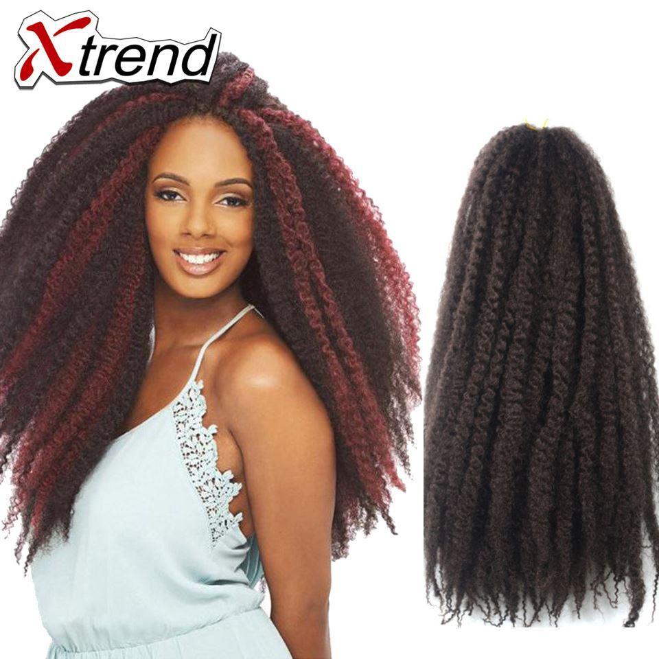 Compre Xtrend Hot 18 \'\' Afro Kinky Marley Trenzado De Belleza De ...