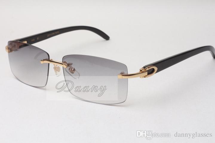 Hotelaria sem moldura quente óculos de sol óculos 3524012 Chifre de boi natural homens e mulheres óculos de sol óculos óculosessize: 56-18-140mm