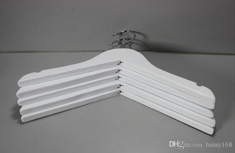 32cm Children Hanger White Color Solid Wood Racks with Anti-slip Kids Babies Pets Shirkts Hangers for Home Office Closet Shop Hotel