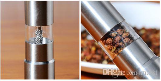 Marki macinapepe in acciaio inossidabile portatile manuale pepe Muller condimento macinazione fresatrice mini cottura utensili da cucina 100 pz h146A