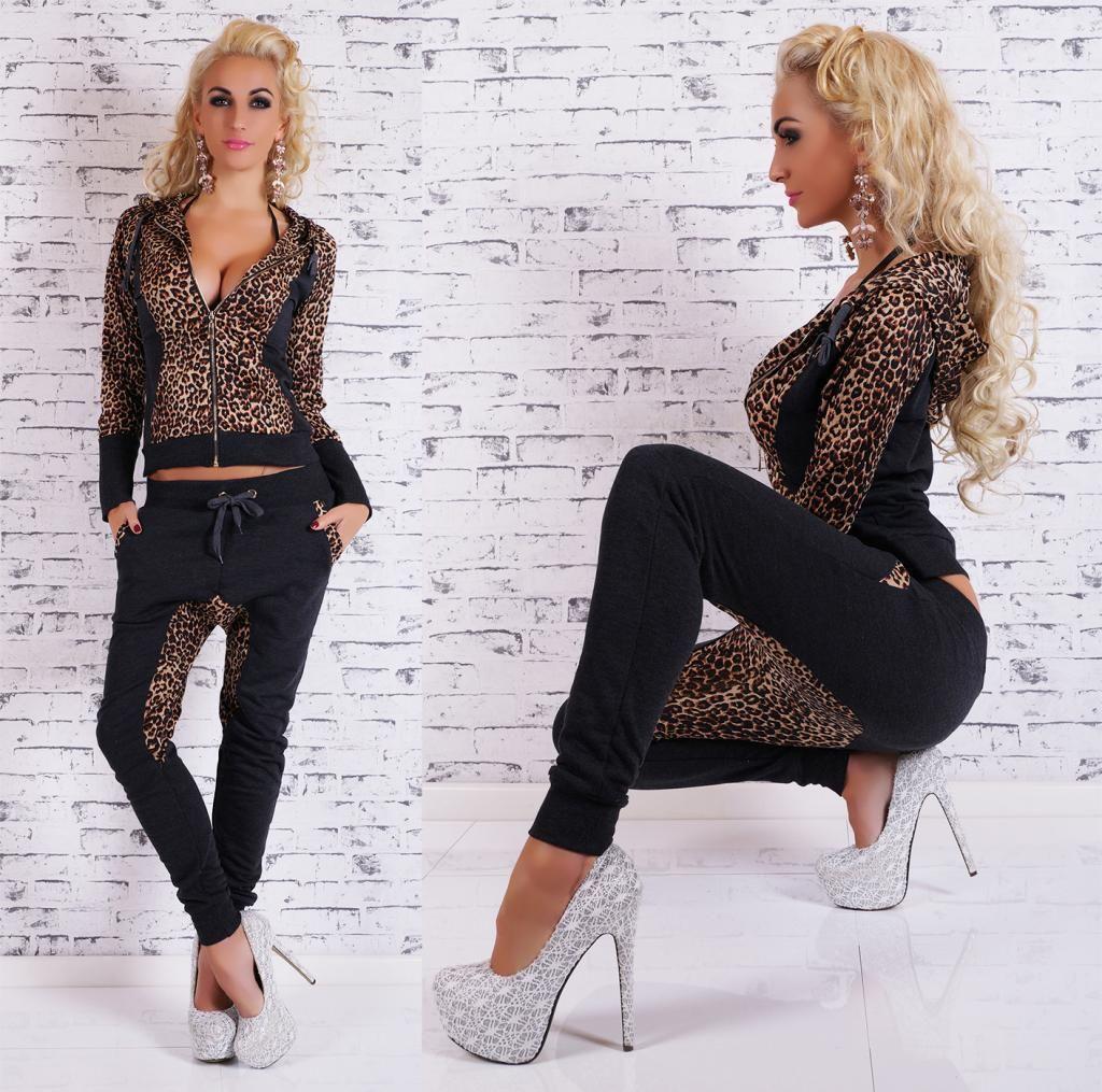 2017 neue frühling sommer frauen kleidung sets mit kapuze leopard anzug 2 stück set frauen anzug casual spot