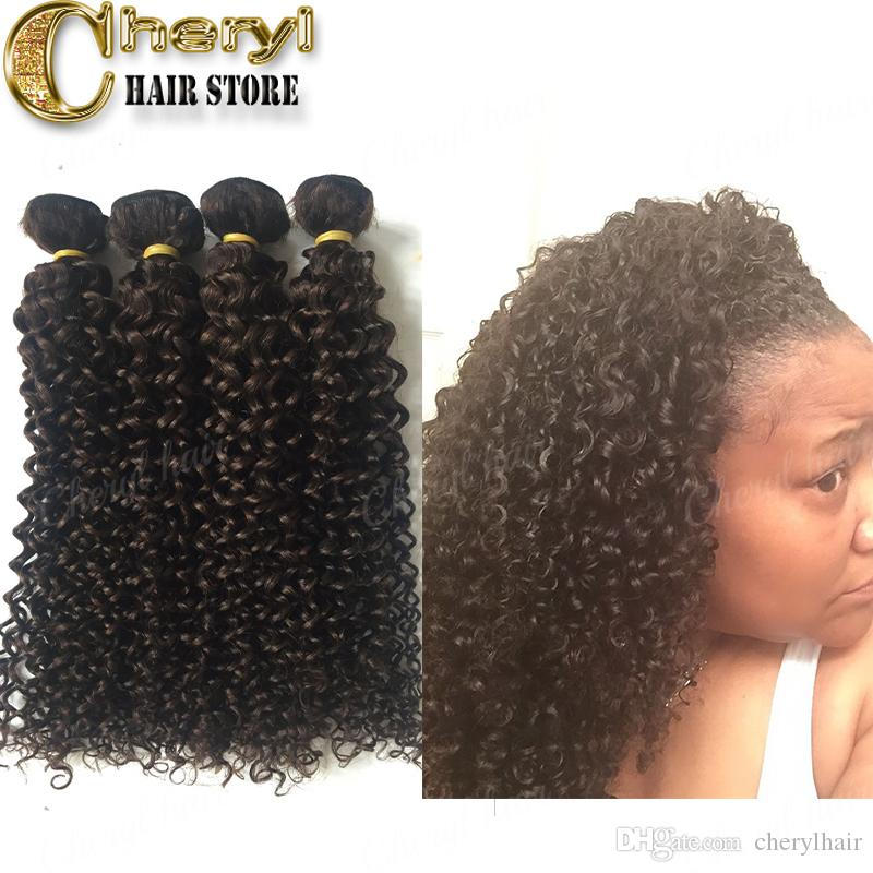 2018 Unprocessed Raw Hair Weave Natural Colordark Brown Human Hair