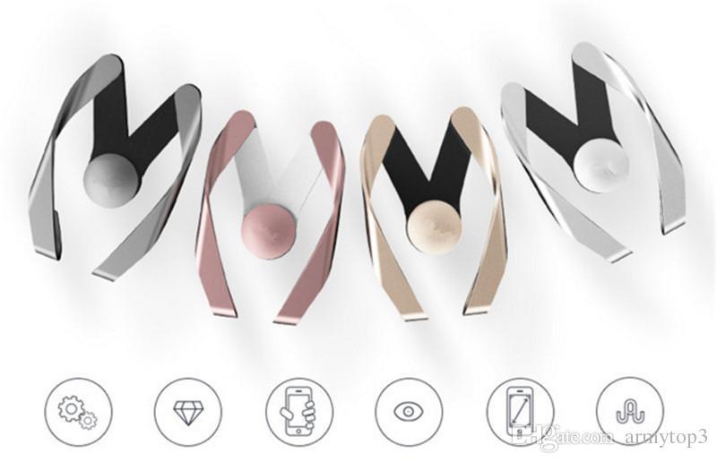2017 nouveau Vente Chaude Universel Réglable M Modèle Mobile Support De Téléphone De Voiture Air Vent Mount Support de Téléphone Mobile pour iPhone Samsung Huawei