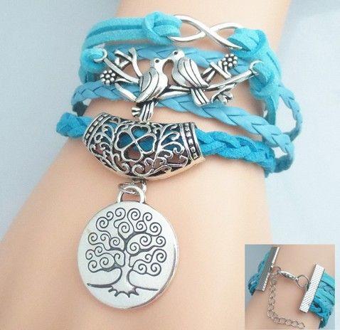 Good A++ Bursts of friendship multi-layer bracelet hand rope FB211 a Charm Bracelets