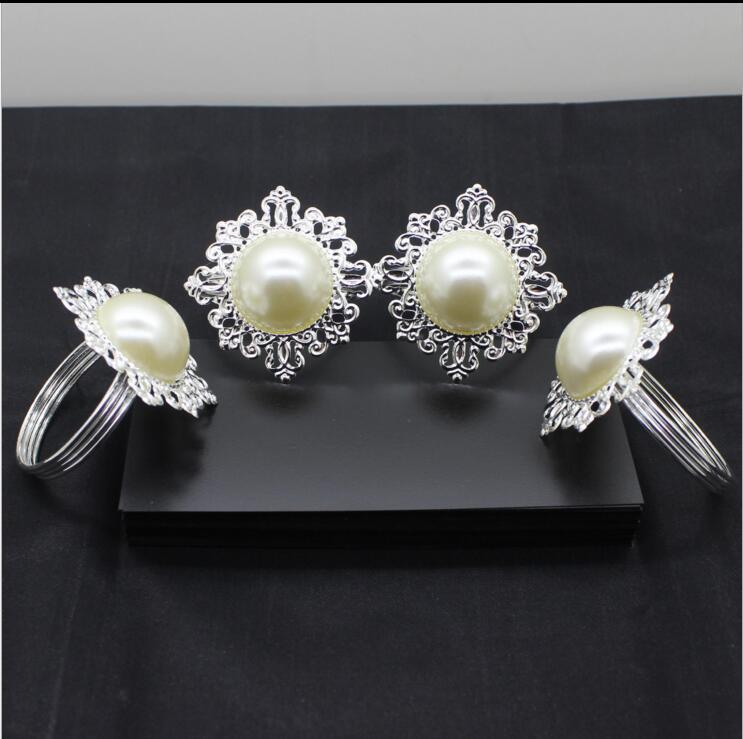 ECO Friendly Clear Gem Napkin Ring Silver-tone Metal Rings Best Quanlity Hotel Party Wedding Favor Favour Supplies DHL